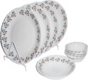 Diva Classic Laurel Wine 10Pcs Dinner Set DIVACLS10LRWN - Glass, White