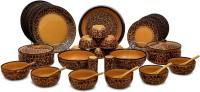 Caffeine Handmade Ceramic Classic Mughal Pack Of 37 Dinner Set (Ceramic)