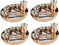 King Traders TULSI - Designer Traditional Indian Copper Dinner Set/Thali Set- Set Of 4 Dinner Set (Copper)