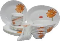 La Opala Crimson Bloom Pack Of 33 Dinner Set (Ceramic)