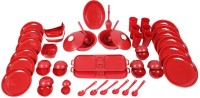 Cutting Edge Super Combo 6pc Daffodil 3 Cook N Serve Set SprComb1_R (Polypropylene, Red) Pack Of 57 Dinner Set (Polypropylene)