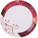 Milton Golden Grass White And Red Melamine Dinner Set - Melamine, White, Red