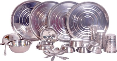 Dynamic Store 24 Pcs Dinner Set Pack Of 24 Dinner Set (Stainless Steel)