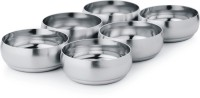 King Traders TULSI -Stainless Steel Heavy Belly Bowl/Bulging Bowl/Bulging Katori Set Of 6 Pcs Dinner Set (Stainless Steel)