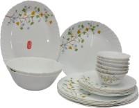 La Opala Floral Magic Pack Of 21 Dinner Set (Ceramic)