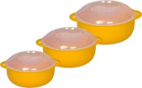 Logic Plastic Printed Casserole Pack Of 3 Dinner Set (Plastic)