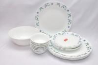 La Opala Juniper Blue Pack Of 19 Dinner Set (Ceramic)