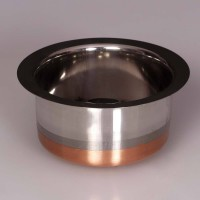 King Traders TULSI - Traditional Designer Stainless Steel Copper Bottom Pot/ Boiler/ Patila- Small Dinner Set (Copper)