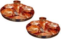 AsiaCraft Indian Traditional Dinner Set Pack Of 16 Dinner Set (Copper)