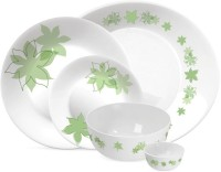 Treo Bormioli Autumn Leaf - Opal Glass - Table Dining Pack Of 21 Dinner Set (Glass)