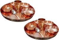 AsiaCraft Indian Traditional Dinner Set Pack Of 16 Dinner Set (Copper)