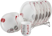 White Gold Elite Pack Of 18 Dinner Set (Melamine)