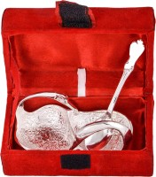 Jaipur Trade Silver Plated Mini Duck Tray With Spoon Pack Of 2 Dinner Set (Silver Plated)