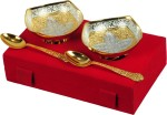 Shreeng Premium Gifts Silver And Gold Plated Brass Bowl 4 Pcs Set