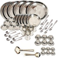 King Traders TULSI -Stainless Steel - Dinner Set Of 50Pcs Dinner Set (Stainless Steel)