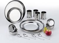 Aristo Stainless Steel Rajwadi Pack Of 24 Dinner Set (Stainless Steel)