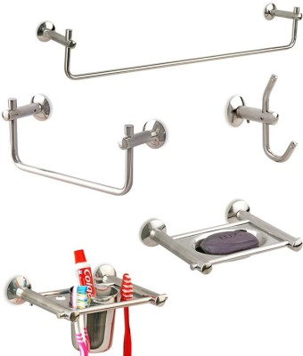 Doyours 5 Pieces Bathroom Accessories Set (Diamond series) Stainless Steel Bathroom Set