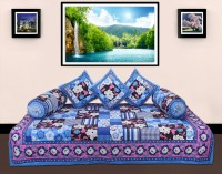 GRJ India Cotton Printed Diwan Set - DSTE8GN7DU8FN44C