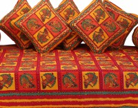 GRJ India Cotton Printed Diwan Set - DSTE88GQDNCBKTYA