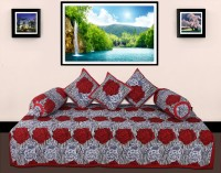 GRJ India Cotton Printed Diwan Set - DSTE8GN7RZJT7UKP