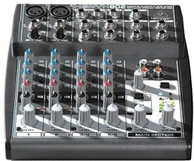 Behringer Xenyx 802 Premium 8-Input 2-Bus Mixer With Mic Preamps And British Eqs Wired DJ Controller