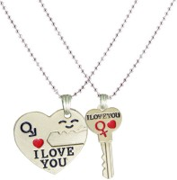 Men Style New Design Couple Key Heart I Love You With Key Pendant Engraved Multicolor Dog Tag