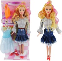 Anukriti Creations My Delicate Beauty Fashion Doll - With Extra Random Dress And Footwear (Multicolor)