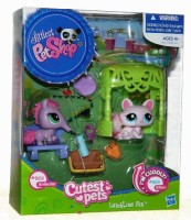 Hasbro Littlest Pet Shop Cutest Pets Lunchtime Fun - Anteater 2618 & Kitten 2619 (Multicolor)