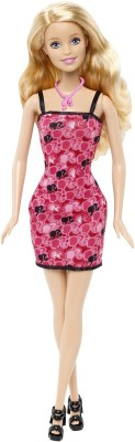Barbie Dolls & Doll Houses Barbie Black and Pink Dress