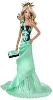Barbie Collector Dolls Of The World Statue Of Liberty Doll (Multicolor)