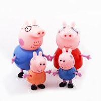 Switch Control Peppa Pig Family Action Figure Set Of 4 (Pink)