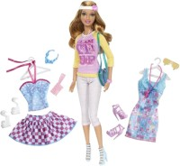Barbie Fashion Doll With A Additional Out Fit (Blue)