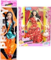 Amaya SET OF 2 Pretty Fashion Doll 10 (Multicolor)
