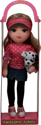Ty Dolls & Doll Houses Ty Awesome Ashley with Hat and Dog
