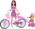 Barbie Dolls & Doll Houses Barbie Sisters Bike For Two Doll Set