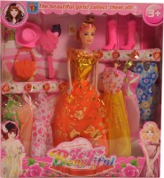 Mera Toy Shop Beautiful Dolls - Orange Heart (Orange)