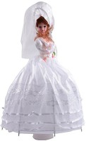 CP BIGBASKET Beautifull Musical Umbrella Doll - White- 24 Inch Toy For Kids (White)