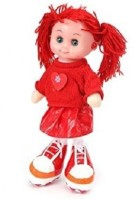 ToyTree Doll With Light And Music Stuffed Soft Plush 35 Cm (Red)
