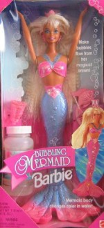Barbie Dolls & Doll Houses Barbie Bubbling Mermaid W Color Change Body