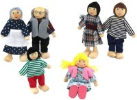 Kuhu Creations Family Wooden Doll Puppets (Multicolor)