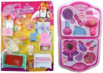 New Pinch Dolls & Doll Houses New Pinch combo of Pretty House Furniture Kit & fashion Beauty Set