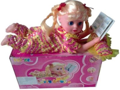 New Pinch Dolls & Doll Houses New Pinch Book Reading Lovely Baby Doll