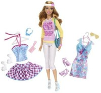 Barbie Doll And Fashion Summer Doll Giftset (Multicolor)