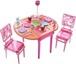 Barbie Dolls & Doll Houses Barbie Dinner to Dessert Dining Room