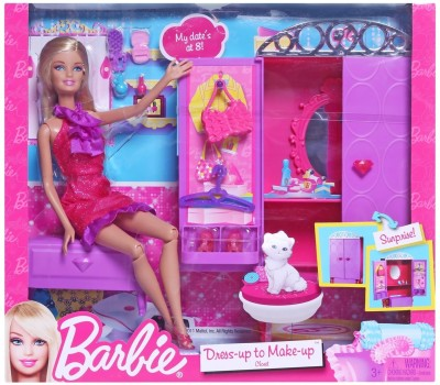 Buy Barbie Dress-up to Make-up Closet: Doll Doll House
