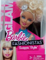 Barbie Dolls & Doll Houses Barbie Fashionistas Swappin' Styles Glam Head