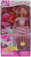 Tootpado Beautifull Doll With A Baby Girl And Fancy Wardrobe - Baby Pink - 1c162 - Fun Fashion Holiday Toys For Kids (Pink)