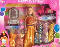 New Pinch Doll Gift Set With 6 Beautiful Dresses (Multicolor)