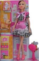 Happiesta Sofia I Love My Pet Plastic Doll (Multicolor)