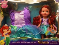 Disney Princess Ariel Doll And Toddler Dress Gift Set = The Little Mermaid (Multicolor)
